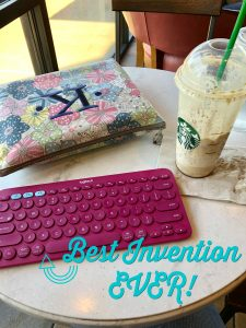 Cute Pink Logitech K380 Wireless Bluetooth Keyboard karenakins.com