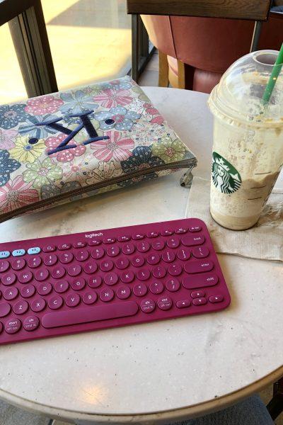 Cute Pink Logitech K380 keyboard - karenakins.com